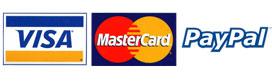 Accepts VISA, MasterCard and Paypal